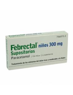 FEBRECTAL INFANTIL 300 MG 6 SUPOSITORIOS