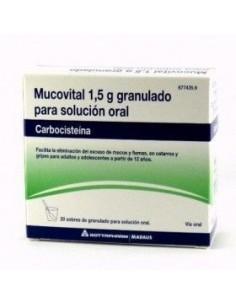 MUCOVITAL 2.7 G 20 SOBRES GRANULADO SOLUCION ORAL