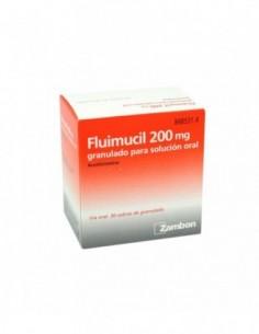 FLUIMUCIL 200 MG 30 SOBRES GRANULADO SOLUCION ORAL