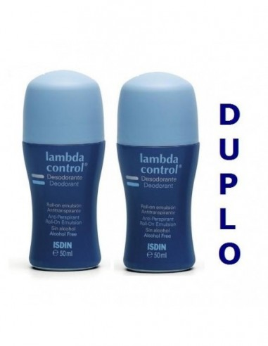 PACK LAMBDA CONTROL DESOD  ROLL-ON 75 ML 50%DTO 2U